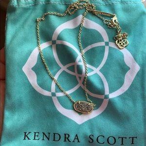 Kendra Scott Elisa Gold Pendant in Platinum Drusy
